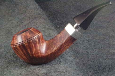 Pipe Pierre Morel HAITI FL .GRAIN FULL SILVER EBONITE