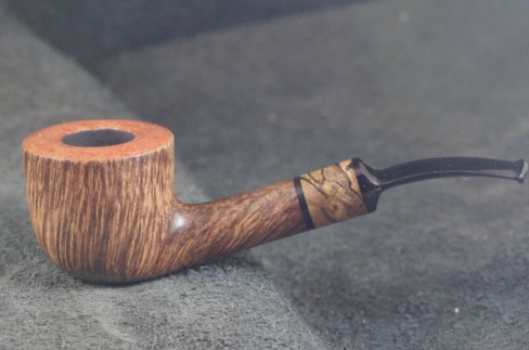 Pipe Pierre Morel RARE STRAIGHT GRAIN SITTER STAB. EBONITE