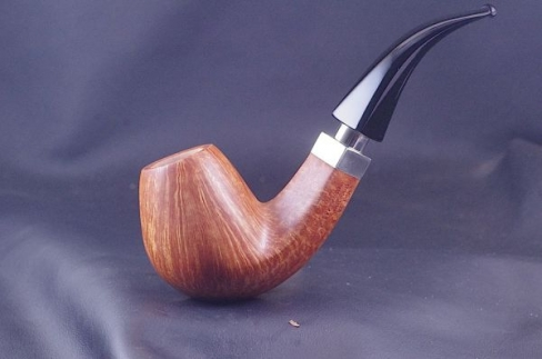Pipe Pierre Morel Bent AAA silver acrylique