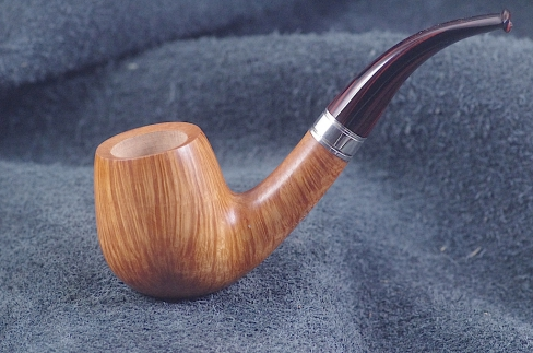 Pipe Pierre Morel AAA  BENT SILVER CUMBERLAND