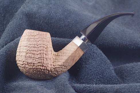Pipe Pierre Morel BENT FULL SILVER AA EBO.
