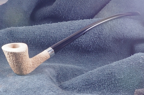 Pipe Pierre Morel CHURCHWARDEN NATURE SILVER ACRY.