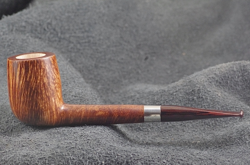 Pipe Pierre Morel AA STRAIGHT GRAIN SILVER SITTER CUMBERLAND