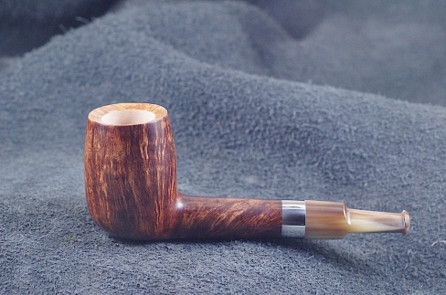 Pipe Pierre Morel NEO SHORT SILVER CORNE 9 mm