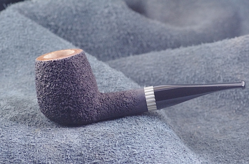 Pipe Pierre Morel CHUBBY  GODRONS SILVER ACRY.