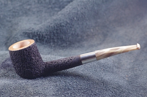 Pipe Pierre Morel B.SHAPE SHORT SILVER SITTER CORNE