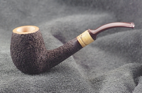 Pipe Pierre Morel EGG  1/2 BENT STAB. CUMBERLAND