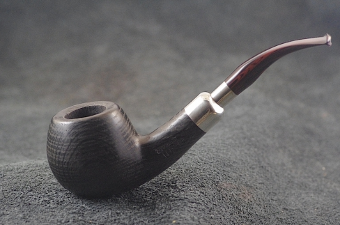 Pipe Pierre Morel APPLE FOSSIL FULL SILVER CUMBERLAND