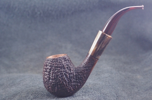 Pipe Pierre Morel EGG AA ,CORNE RARE, CUMBERLAND 9 mm