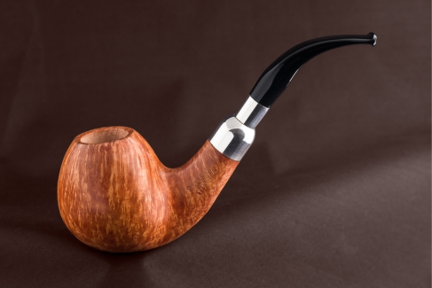 Pipe Pierre Morel BIG APPLE AAA SITTER FULL SILVER ACRY.