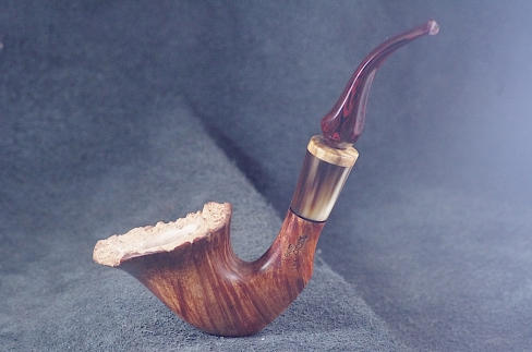 Pipe Pierre Morel DARK FLOWER CORNE STAB.CUMBERLAND