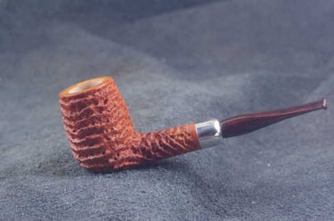 Pipe Pierre Morel NEO TAN SILVER SITTER CUMBERLAND