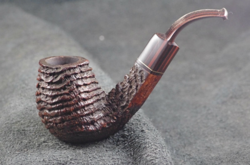 Pipe Pierre Morel BENT PM RINGS CUMBERLAND