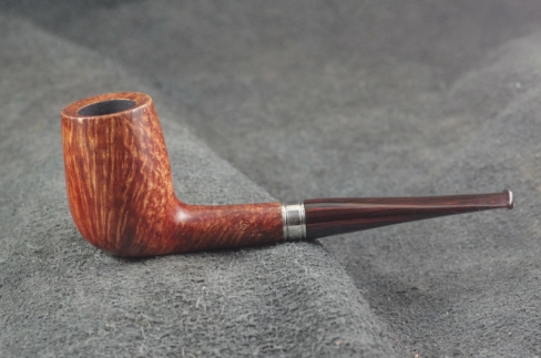 Pipe Pierre Morel STAIGHT GRAIN SILVER SITTER CUMBERLAND