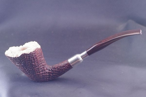 Pipe Pierre Morel AA sitter silver spigot cumberland
