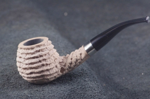 Pipe Pierre Morel VIRGIN AA OVAL SILVER NEVEL ACRY.