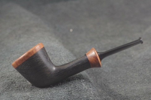 Pipe Pierre Morel DUBLIN LIGHT FOSSIL DUO EBONITE