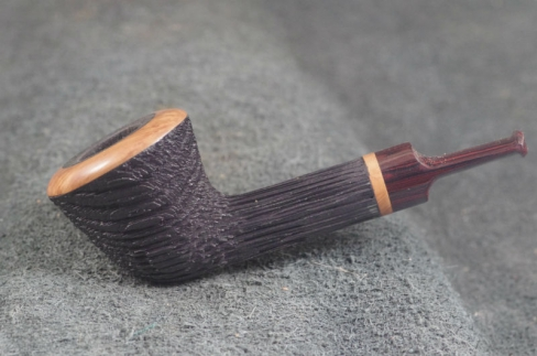 Pipe Pierre Morel BLAST STRAIGHT DUBLIN FOSSIL SITTER CUMBERLAND