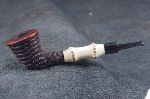 Pipe Pierre Morel DUBLIN AA SITTER BAMBOU EBONITE