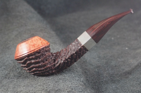 Pipe Pierre Morel HAÏTI AA DUO 1/2 BENT  SILVER LEVEL CUMBERLAND