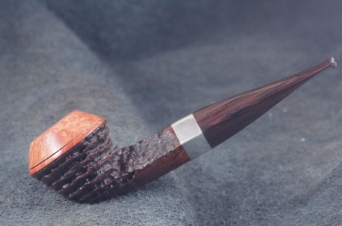 Pipe Pierre Morel BULLDOG  DUO AA SILVER LEVEL CUMBERLAND