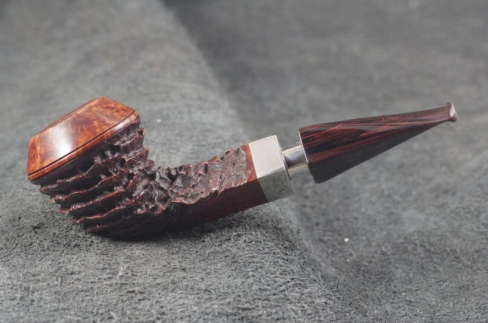 Pipe Pierre Morel BULLDOG AA FULL SILVER CUMBERLAND 9 MM